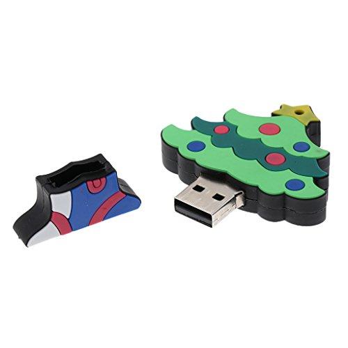 IPOTCH Mini Weihnachten Baum Stil USB-Stick Memorystick USB 2.0 Flash Drive U-Disk Daten Speicher Stick - Mehrfarbig - 32gb