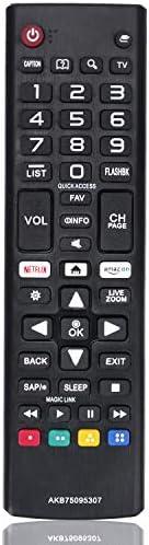 New Remote Control AKB75095307 Replacement fit for LG LED LCD TV 43UJ6500 43UJ6560 49UJ6500 49UJ6560 55UJ6520