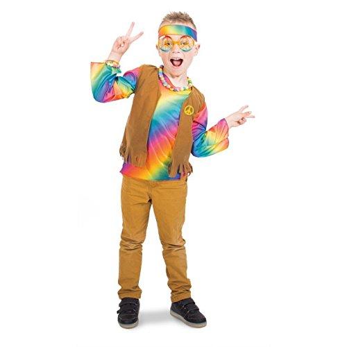 Folat 63277 - Hippie-Kostüm Flower Power Boys - Größe ()