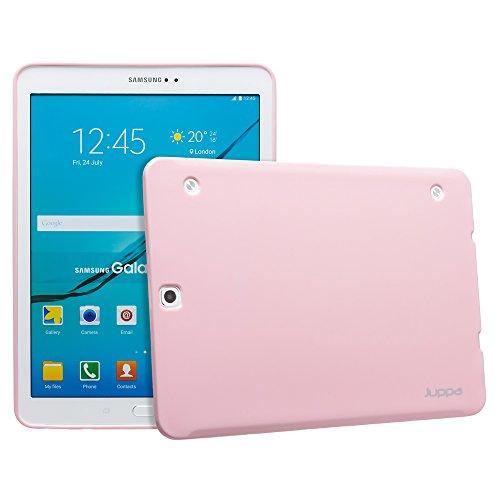 S2 Lcd-samsung Galaxy (Juppa® Samsung Galaxy Tab S2 9,7 Zoll SM-T810 T815 TPU Silikon Tasche Hülle Schutzhülle mit LCD displayschutzfolie und Mikro-Reinigungstuch - Pink)