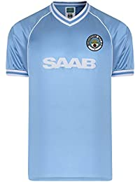 Official Retro Manchester City 1982 Retro Football Shirt 65% POLYESTER 35% COTTON