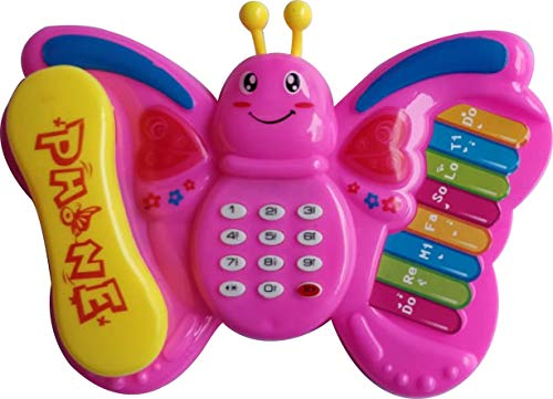 Sky Solution Butterfly All New Telephone Musical Toy-Battery Operated (Battery Not Included)