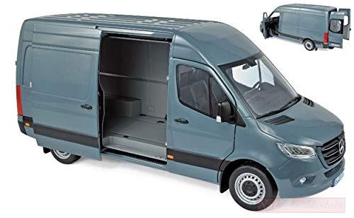 f0e524030068 NOREV NV183423 Mercedes Sprinter 2018 Bluegrey 1 18 MODELLINO Die CAST Model
