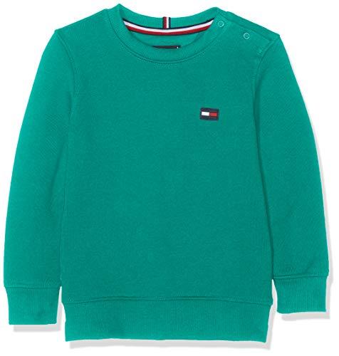 Tommy Hilfiger Baby-Jungen Tommy Flag Sweatshirt Grün (Dynasty Green 303), Herstellergröße: 92 Kinder Sweatshirt Flag