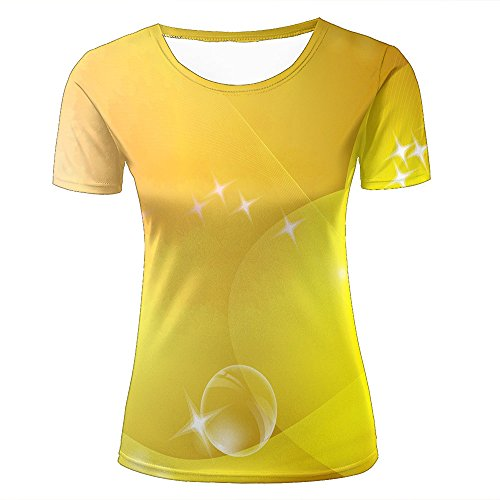 Eurapping donne tshirts fashion 3d print graphic yellow leaves bubbles unisex tees xl