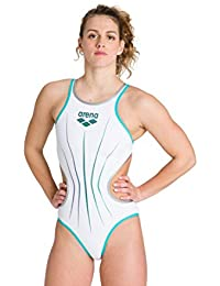 ARENA W Electric One Piece, Mujer, White/Mint/Silver, 36