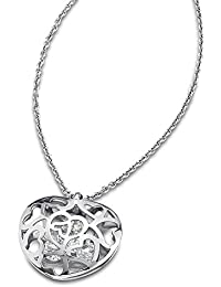 Lotus Style collar de acero inoxidable coloures de acero corazón señorías Lotus Style de acero inoxidable JLS1667-1 -  1