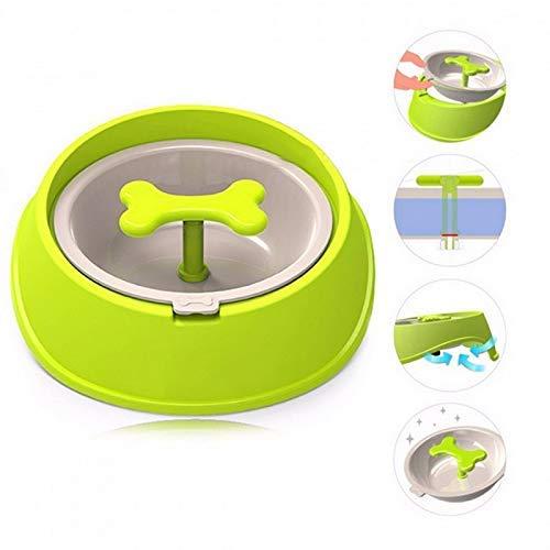 MGRJ Pet Dog Bowl Slow Feeder, lustiges und interaktives Spielzeug für kleine und mittlere Hunde Katzen erhöhen die Aufmerksamkeit Bloat Stop Hundenahrungsnapf, grün -