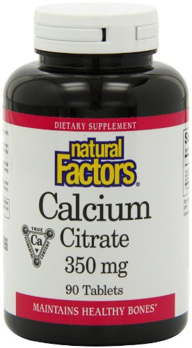 Citrate) 90 Tabletten (Calcium Citrate, 350 mg, 90 Tablets - Natural Factors - Qty 1)