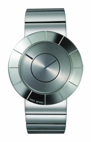 Issey Miyake IM-SILAN006 - Reloj de caballero de cuarzo, correa de acero inoxidable color gris