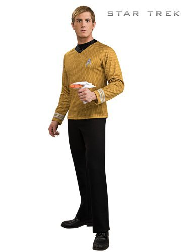 Lizenziertes Star Trek-Kostüm - Shirt - Scotty/Kirk/Spock - Gold - Größe (Deluxe Kostüme Star Trek Movie)