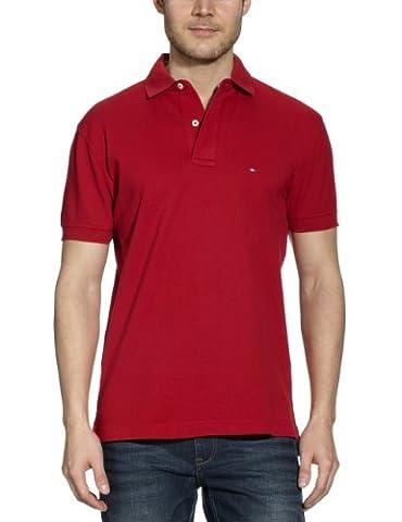Tommy Hilfiger Herren Poloshirt, Gr. XL, Rot (Apple Red 611)