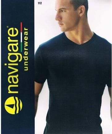 3 Maglie Navigare Caldo Cotone Manica Corta art.112 6/XL Nero