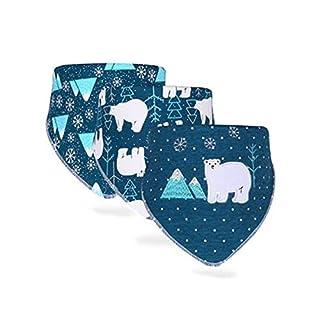 Mein ji Baby Bibs Baby Girl Kinder Lätzchen Baby Snap-Fastener Dreieck Wasserdicht Lätzchen Neugeborene 3 Stück (Dream Artico)