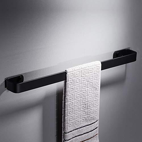 XJ&DD Solide Schwarz Weltraum Aluminium Handtuchstange,Einpolige Korrosionsbeständige handtuchhalter,Kostenlos stanzen Für Badezimmer Küche Office-G 30cm(12inch)
