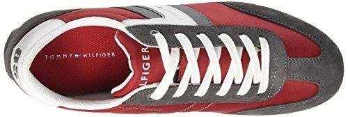 Tommy Hilfiger B2285ranson 8c_1, Scarpe Low-top Uomo Rosso (rouge Tango / Acier Gris 611)