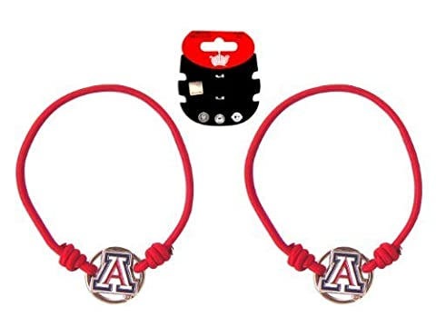 NCAA Arizona Wildcats Stretch Bracelet/Hair Tie Set by Aminco