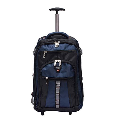 Rad Trolley Rucksack Executive Mobile Office Business, Hand Kabine Gepäck Laptop Rucksack Schultertasche 18 Zoll (Farbe : SCHWARZ, größe : 18-inch) -