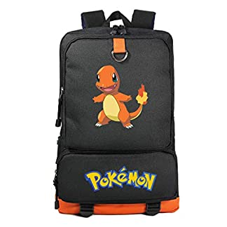 41zuLcu6XHL. SS324  - Mochila Pokemon Escolar, Mochila Pokemon Go Pikachu Charizard para Infantil Niños y Niñas Unisex Bolsa Portátil para Mujeres Hombre Viaje Backpack para Estudiantes Adolescentes