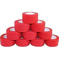 Kohäsive Pflaster selbstklebend Fixierbinde Haftbinde Farbe: rot (Größe: 2,5 cm x 4 m, 60 Stück) preisvergleich bei billige-tabletten.eu