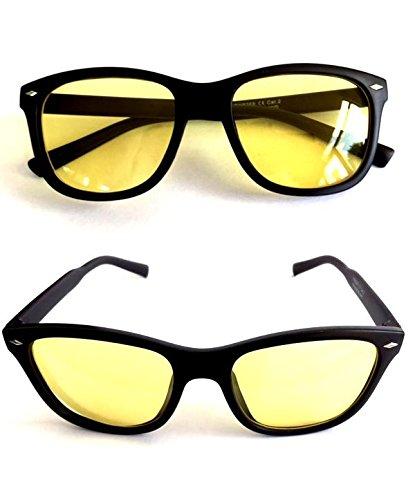 2x-Nachtsichtbrille-Kontrastbrille-Nachtfahrbrille-Nachtbrille-Retro