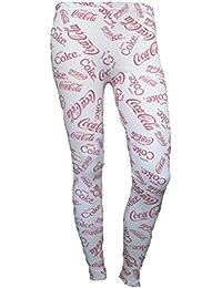 Mix lot new womens coca cola slogan leggings ladies trendy unique skinny coca cola printed design tights casual wear size 8-14