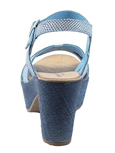 Mercante di Fiori  Nma 45975 Cobra Pelle Jeans Argento, Sandales pour femme Denim
