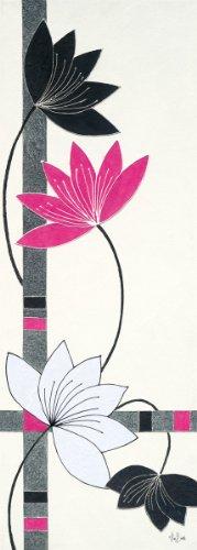 Eurographics ABU1014 Alan Buckle, Fuchsia Lotus Stems 25 x 70 cm, Hochwertiger Kunstdruck -