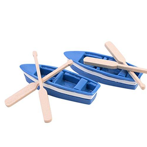 Welecom 1pcs barco adorno de jardín planta de figura en miniatura jardín...