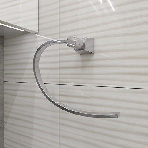 Portasciugamani per lavabo bagno acroos - acciaio inossidabile, resistente ed antiruggine con finitura lucida, stile moderno – installazione a parete - ottimo per arredare e decorare il proprio bagno