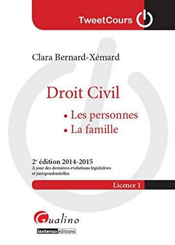 Droit civil - Les personnes, la famille, 2ème Ed.