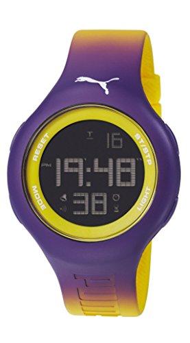 Bucle Unisex Puma L Digital Pantalla Digital Reloj Infantil con Mecanismo de Coronado Controls y Morado Correa de PU PU910801032