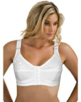 Cintamani Women's White Front Fastening Bra Soft Cup Non Wired Non Padded 3P4 36 38 40 42 44 B C D DD E