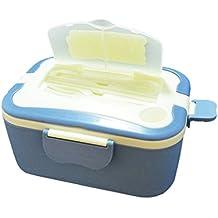 Jiyaru Caja de almuerzo eléctrico portátil vehículo cargando las cajas de almuerzo de plug-ins disponibles recipiente interior de acero inoxidable Azul