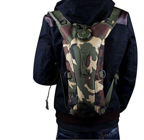 WanYang Hohe Qualität Camouflage Trinkrucksack Wasser Rucksack Wasser Blase Taschen für Fahrrad Wandern Klettern Camping Tarnung D
