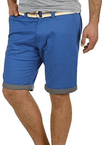 !Solid Lagos Herren Chino Shorts Bermuda Kurze Hose Mit Gürtel Aus Stretch-Material Regular Fit, Größe:M, Farbe:Limoges - Tank Gürtel Top Herren Mit