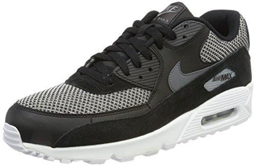 Nike Herren Air Max 90 Essential Sneaker, Schwarz (Black/Dark Grey Dark Grey-Chrome-White), 45.5 EU