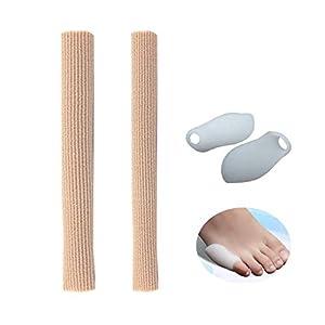 Gel-schlauchbandage Pinky Silikon Protector Lange, weiche Kappe mit kleinen Zehenspaltern zur Verhinderung von Kallus-Mais-Blasen