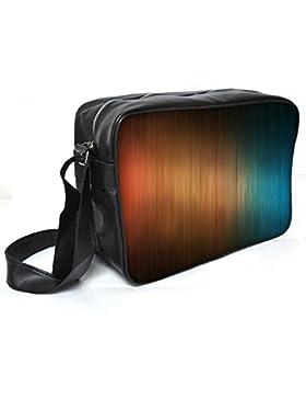 Snoogg Joppe orange und blau Design Leder Unisex Messenger Bag für College Schule täglichen Gebrauch Tasche Material PU