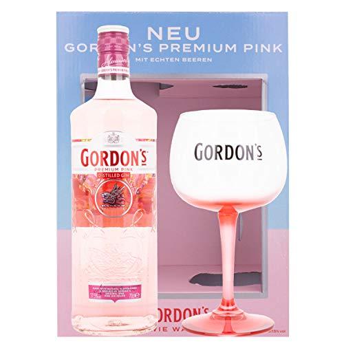 Gordon\'s PREMIUM PINK Distilled Gin - Geschenkbox mit Gin Glas 37,50{17f929dbf41b320bb3e980b3d19223938a635c516e092e7b584b9974a3f53f27} 0.7 l.