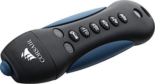 Corsair Flash Padlock 3 16GB Secure verschlüsselter USB-Flash-Laufwerk USB 3.0, Schwarz/Blau (Usb-flash-laufwerk-aes-hardware)