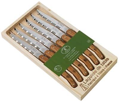 Laguiole Jean Dubost 97141-Set of 6Steak Knives in Wooden Box, Set