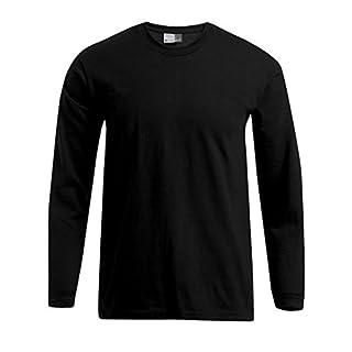 Promodoro Premium Langarmshirt Plus Size Herren, 4XL, Schwarz