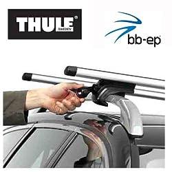 Thule Premium Aluminium Dachträger / Lastenträger Set mit neuer WingBar Traverse für MERCEDES BENZ M-Klasse (W166) - 5 Türer SUV ab Baujahr 2012 bis heute - mit normale (hochstehender) Dachreling - Komplettset abschließbar inkl. Schloss und Schlüssel - kein weiteres Zubehör nötig!!! Inkl. 1 Liter Scheibenwasch Konzentrat Kroon Oil Screen Wash