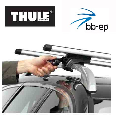fahrradtraeger tiguan Thule 90107716 Premium Aluminium Dachträger Set mit neuer WingBar Traverse
