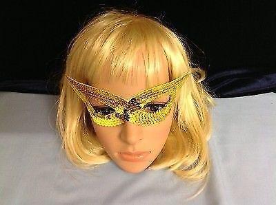 Pailletten Augenmaske Halloween Maskerade Katze Frau Lone Ranger ()