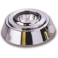 Lámpara de techo de latón cromado 12V. ideal para el montaje Sotto il roll-bar