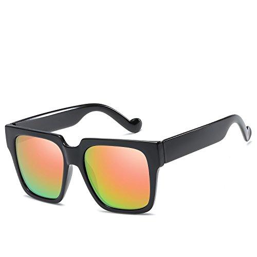 UV-Schutz im klassischen Stil Kunststoff Blume Brille Großhandel Retro Sonnenbrille Farbe Sonnenbrille Sonnenbrille Unisex Männer und Frauen Radfahren Laufen fahren Angeln Brille ( Farbe : Braun )