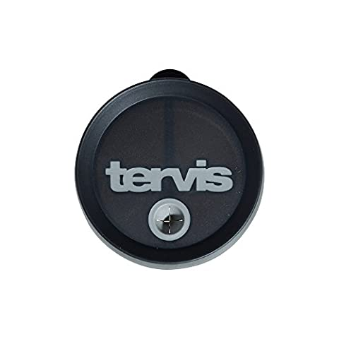 Tervis Tumbler Black with Gray Straw Lid
