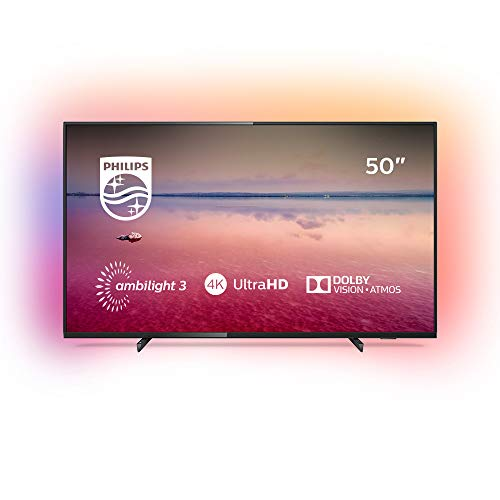 Philips Ambilight 50PUS6704/12 Fernseher 126 cm (50 Zoll) LED Smart TV (4K UHD, HDR 10+, Dolby Vision, Dolby Atmos, Smart TV) Schwarz (Led 50 Tv)